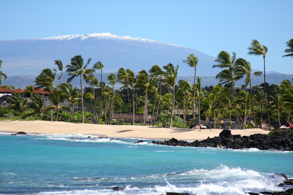 Hawaii Big Island, spiaggia,