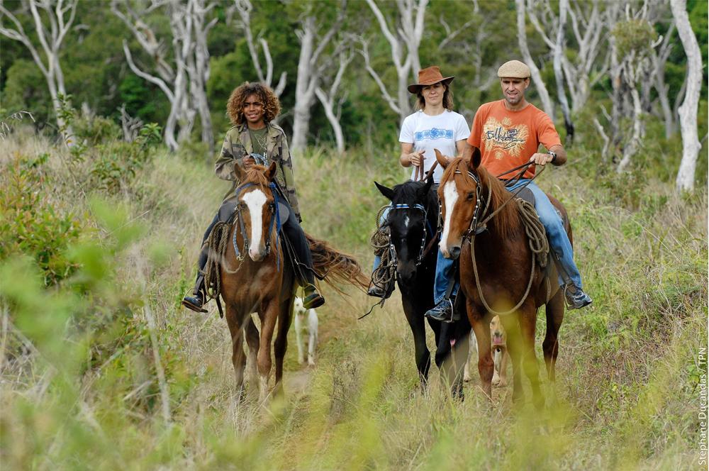 Nuova Caledonia escursione a cavallo